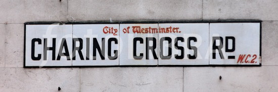 Charing Cross Rd Street Sign