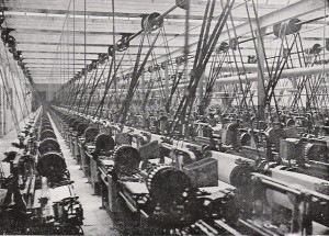 Lancashire cotton mill, 1914