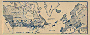 Map of Canada 1900's