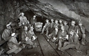 Daily Mail. Relaxed Picture of Miners