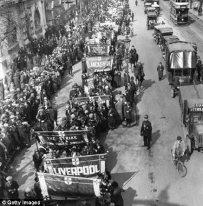 March organised by Trade Unionists in 1926.