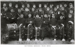 Battersea Borough Prize Band, 1908.