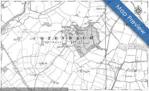 Preview of the map of Cotesbach from 1885 - 1902