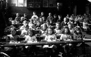 The typical 1920's British classroom.