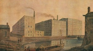 Illustration of a Lancashire Cotton Mill