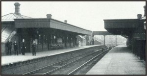 Railway station in Mirfield, Yorkshire.