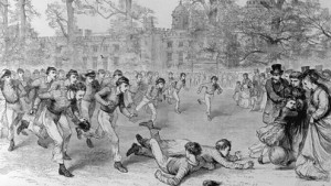 Football as played at Rugby School.