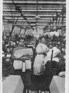 Young Lancashire Mills Girls