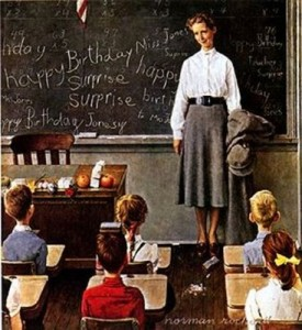 rockwell-female-teacher-and-elementary-students