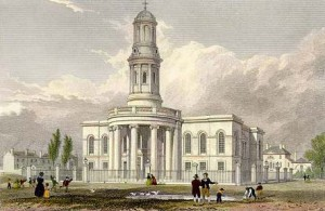 St Philips Church in 1800s.
