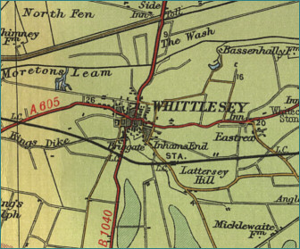 A map of Whittlesey (also spelt Whittlesea), Cambridgeshire. Where Alf was born.