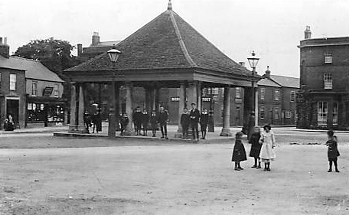 The Market Square of Whittlesey in the late 19th Century