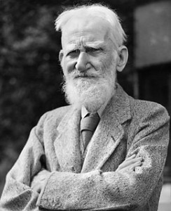 Bernard Shaw, one of Rasul's writing icons
