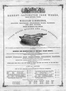 An advert for William Cambridge of the Market Lavington, William's employer