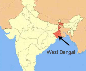 location-of-west-bengal