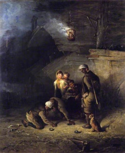 'Pitmen Playing Quoits' by Henry Perlee Parker, 1840