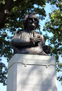 Bronze statue of Emmanuel Swedenborg in Chicago.