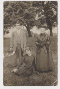 Fig.1 George Albert Westall (Left) Lillian Rose Mara/Westall (Middle) and Unknown Family Member (Right)