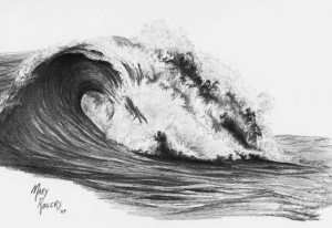 An example of a threatening wave that the Terrys would endure.