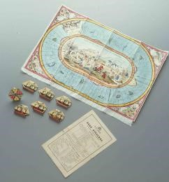 'Race to the gold diggings of Australia' board game, 1850 - 1865