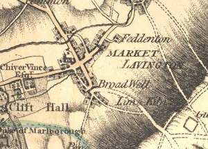 Market Lavington area where William would have made a daily commute to serve his apprenticeship