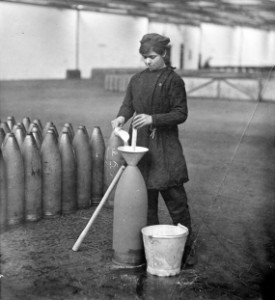 Figure 1 Young Girl working at a muniton factory in England