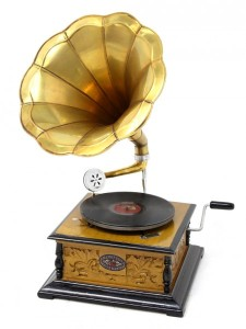 Typical 1920's gramophone