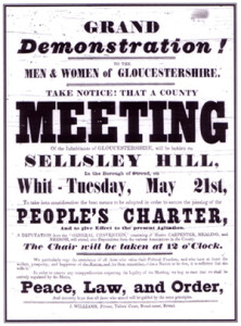 Chartist Poster Which Clearly Promotes Peace