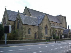 St Mary's church where Hughes taught Sunday School during the 20th Cenutry