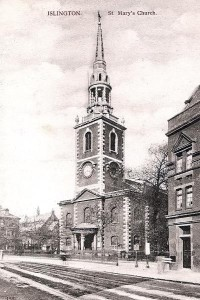 Fig. 1 A Catholic Church in Islington that I believe Lilian Westall attended.
