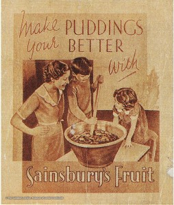 Sainsbury's Christmas pudding advert c.1920's.