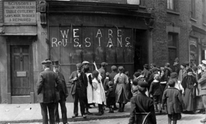 'We are Russians' image in 1915 London