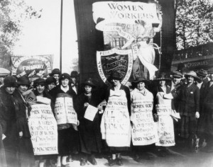 Women campaigning against the Unemployment Insurance Act in 1920 TUC Collections, London Metropolitan University